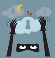 data theft protection secure cloud computing vector image