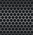 Hexagon Metal Grill Seamless Background vector image