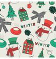 Retro Winter Christmas Pattern vector image