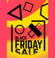 absract colorful geometric flyer sale vector image vector image
