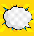 abstract blank speech bubble pop art comic book vector image vector image