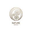 albuca spiralis leaf linear logo corkscrew plant vector image