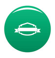 badge banner icon green vector image vector image