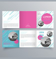 brochure design 954 vector image vector image
