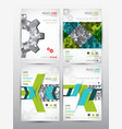 brochure design template set of cover vector image vector image