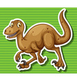 Brown dinosaur with sharp claws vector image