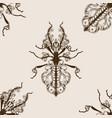 bug phasmatodea seamless pattern vector image