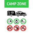 camping allowed sign modern label ready to print vector image