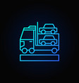 car transporter blue icon vector image vector image