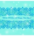 Christmas and New Year ornate cards on winter vector image