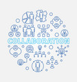 collaboration round in outline vector image