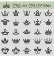 collection crown silhouettes vector image