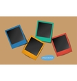 Colored Photo Frames with shadows vector image