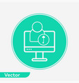 computer user icon sign symbol vector image vector image