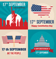 constitution day usa banner set flat style vector image