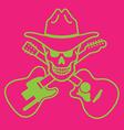 Cowboy Skull Design vector image vector image