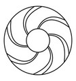 curl bakery icon outline style vector image