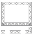 Deco frame vector image vector image