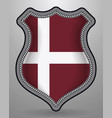 denmark orlogsflaget variant flag badge and icon vector image vector image