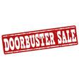 doorbuster sale stamp vector image vector image