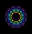 dots mandala rainbow vector image vector image