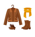 elegant clothes and accessories vector image vector image