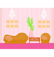 Fashionable interior of living room vector image vector image