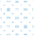 fence icons pattern seamless white background vector image vector image
