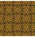 Floral spring pattern in sepia colors vector image