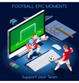 Football 01 People Isometric vector image