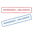 germany cologne textile stamps vector image vector image