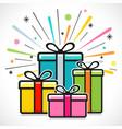 gift box happy design vector image