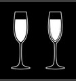 glass of champagne white color icon vector image vector image