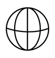 globe icon linear symbol with thin outline the vector image vector image
