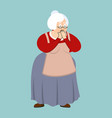 grandmother omg scared grandma oh my god emoji vector image