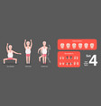 grandpa making morning exercises active workout vector image vector image