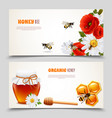 honey banner set vector image vector image