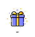 icon gift box as present or surprise vector image