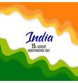 indian independence day background with waves and vector image vector image