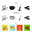 isolated object of food and yummy symbol vector image