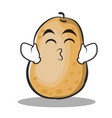 Kissing smile eyes potato character cartoon style