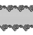 lace horizontal seamless pattern border vector image