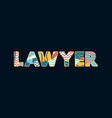 lawyer concept word art vector image vector image