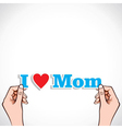 love for mom concept vector image vector image