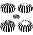 magnetic field toroid black symbol vector image vector image