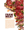 meat poter for butchery or farm market vector image vector image