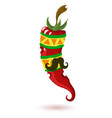 mexican chili pepper pepper vector image vector image