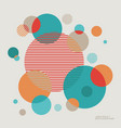 modern abstract background circle element vector image
