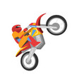 motorcyclist riding motorcycle motocross racing vector image vector image