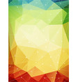 multicolored geometric pattern warmen farben vector image vector image